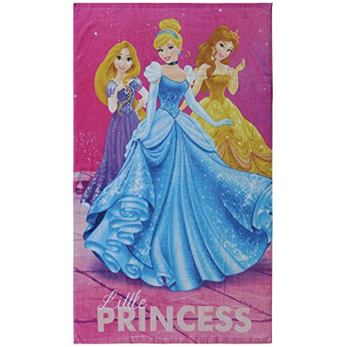CTI - Disney - Disney Princesse - Drap de Plage Princesses Dream Big 100% Coton, Rose, 120x70 cm