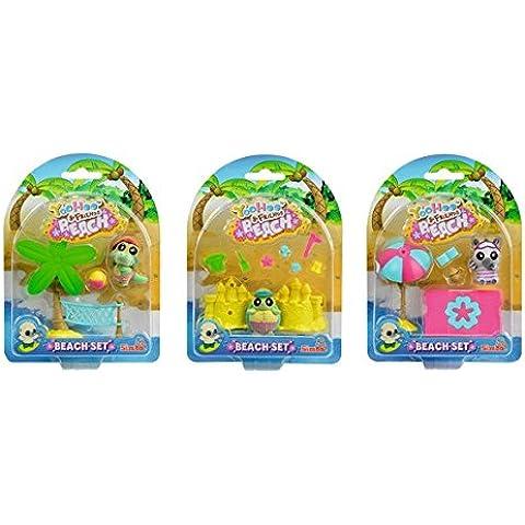 Simba 105950634 - YooHoo and Friends Beach Set, 3-sortiert