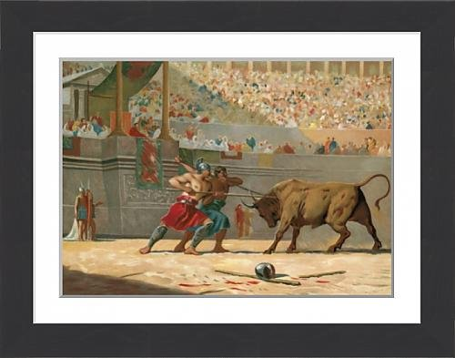 framed-print-of-julius-caesar-watching-a-circus-entertainment
