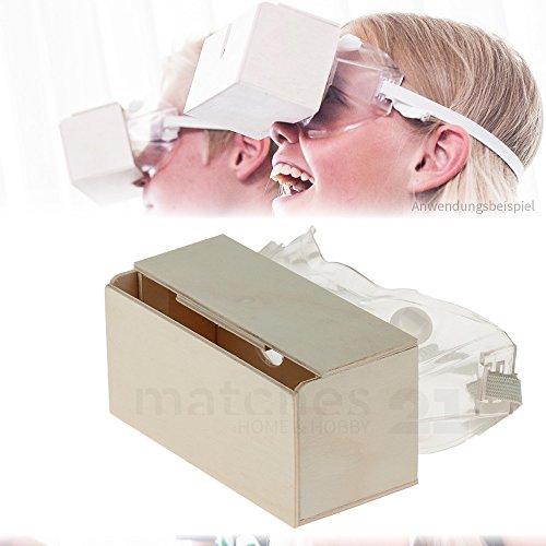 Preisvergleich Produktbild matches21 VR-Brille für 3D Filme auf Smartphones Bausatz Holz Werkset Bastelset f. Kinder ab 10 Jahren
