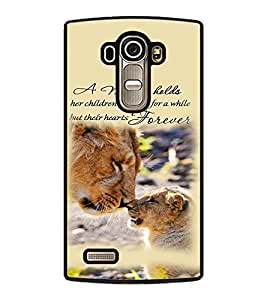 Fuson Premium Mother Forever Metal Printed with Hard Plastic Back Case Cover for LG G4 Dual