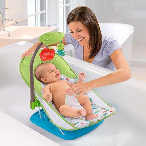 Summer Infant Deluxe Baby Bather Caterpillar - Hamaca de baño con arco de juegos