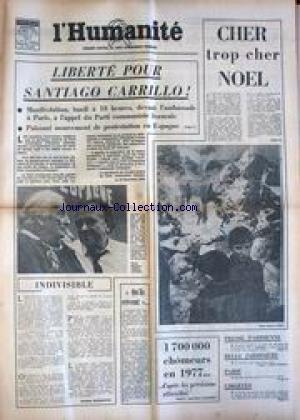 HUMANITE (L') du 24/12/1976 - LIBERT...