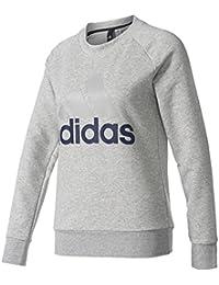 adidas ESS Lin Hosen für Damen, Schwarz (Schwarz/Weiß), 2XL