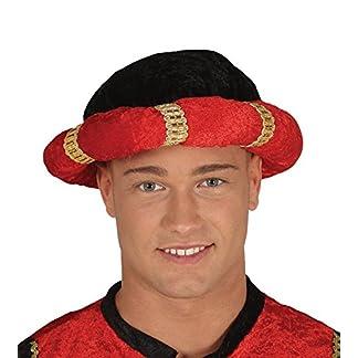 Turbante negro y rojo mago rey de disfraz maharajá indio