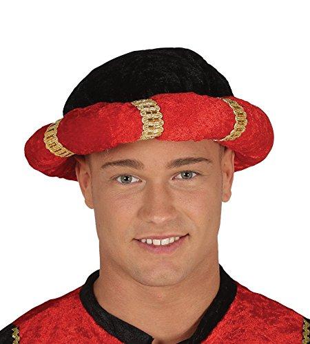 Könige Der Kostüm Indischen - Fiestas Guirca Turban schwarz und rot König Magus für indische Maharadscha Verkleidung