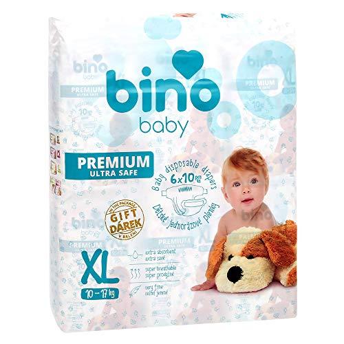 Bino Mertens 200004 - Windeln Baby Premium XL, Geschenk, Weiß