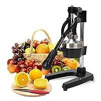 FOBUY Commercial Grade Citrus Juicer Hand Press Manual Fruit Juicer Juice Squeezer Citrus Orange Lemon Pomegranate (Black)