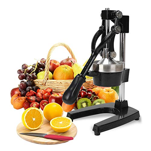 FOBUY Commercial Grade Citrus Juicer Hand Press Manual Fruit Juicer Juice Squeezer Citrus Orange Lemon Pomegranate (Black)