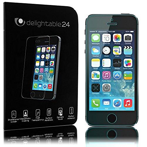 Apple iPhone SE 5 5S 5C Panzerglas Schutzfolie von NICA, 2.5D Round Edge Full-Cover Displayschutz-Folie / 9H Panzerfolie Schutz-Glas / Volle Handy Display-Abdeckung Panzer-Glasfolie - Kristall-Klar (Iphone 5 Glas Abdeckung)