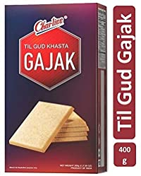 Charliee Gajak - Peanuts and Jaggery Sweet Bar 400g - Ready to Eat Snacks - Indian Traditional Sweet 400g - Pack of 6