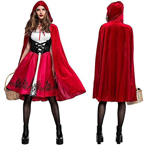B-kreatives Geschichtenbuch Little Red Riding Hood Halloween Kostüm Rolle Spielen Fancy Dress Party Premium-Outfit für Frauen Erwachsene UK (klein) ()