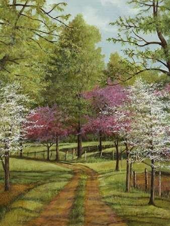 Feeling at Home Feelingathome-Leinwand-Bild-Dogwood-Lane-cm86x65-Kunstdruck-auf-Leinwand Dogwood Lane