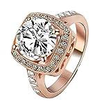 Gnzoe Bijoux Princesse Coupe Zircone Cubique Autrichien Cristal Alliance de Mariage Pour Femmes MGjin Size 10