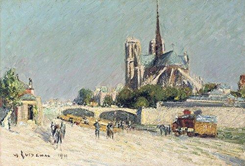 Das Museum Outlet-Quay der Seine, Notre-Dame, 1911-Leinwanddruck Online kaufen (76,2x 101,6cm)