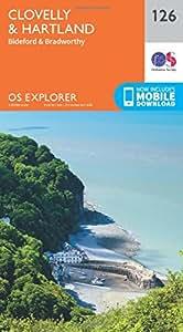 OS Explorer Map (126) Clovelly and Hartland