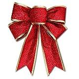 Weihnachtsbaumschmuck, Weihnachtsbaumschmuck, Schleife, Weihnachtsbaum, Geschenk, Weihnachten, Party, Weihnachten, Dekorationen Free Size rot