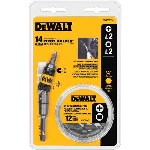 DEWALT DWPVTC14 14-piece Pivot Holder Set