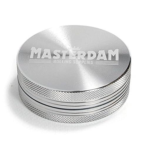 mastergrind Shield Series Moulin à herbes aromatiques en aluminium pour herb-spices-tobacco [cm] Large (2.5 inch)