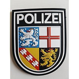 ATG Ärmelabzeichen Police Saarland 3D Rubber Patch (Colour)