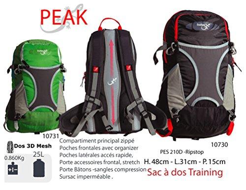sacchetti Zaino 25l–Peak–Zaino Sacchetti per sport–Media Escursionismo Montagna, verde verde