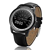 JASZHAO Smart Watch Full HD IPS Screen Bluetooth Smart Watch Fitness Tracker App für iPhone IOS Android Phone,B