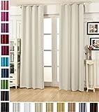 WOLTU #489, Vorhang Gardinen Blickdicht mit kräuselband für schiene, Leichter & weicher Verdunklungsvorhang für Wohnzimmer Schlafzimmer Tür, 135x245 cm, Crème, (1 Stück)