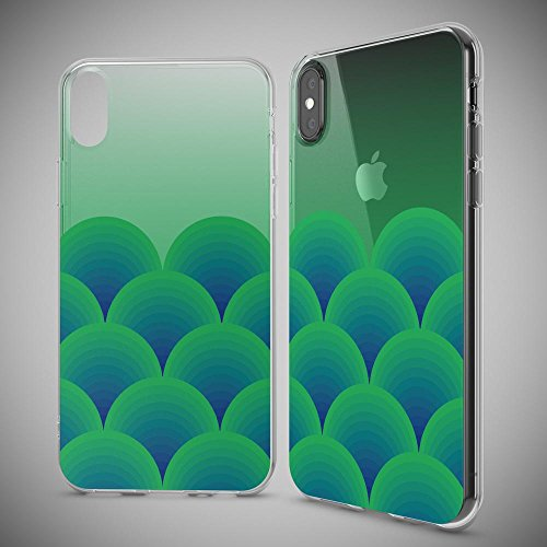 iPhone X Coque Protection de NICA, Housse Motif Silicone Portable Premium Case Cover Transparente, Ultra-Fine Souple Gel Slim Bumper Etui pour Telephone Apple iPhone-X - Transparent Green Forest