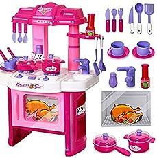 KISMIS MAGNIFICO Kitchen Toy Set for Girls (40 Pc Kitchen Set)