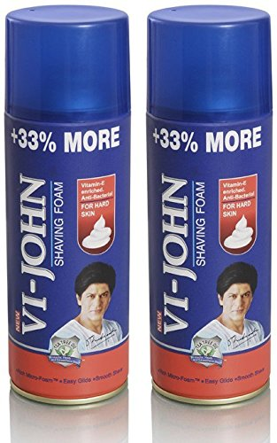 VI-John Shaving Foam for Hard Skin - 400 g (Pack of 2)