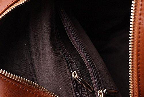 Moda Tracolla In Pelle Casuale Signore Mini Borsa A Tracolla Zaino Studente Collegio Vento Brown