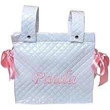 Bolso panera personalizado para el carrito del bebe (diferentes colores y materiales)