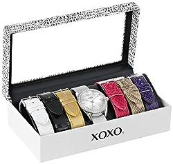 XOXO Women's XO9062 Analog Display Analog Quartz Grey Watch