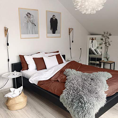 DecoKing 82577 155x220 cm braun Bettwäsche mit 1 Kissenbezug 80x80 Bettwäscheset Schokolade Schoko Microfaser 2tlg Prestige -