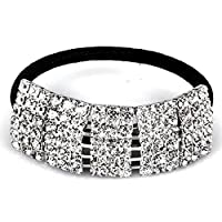 Santfe Full Rhinestone Elastic Hair Rope Headband Hairband Headpiece Jewelry