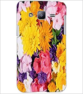 PrintDhaba Flowers D-2420 Back Case Cover for SAMSUNG GALAXY J2 (Multi-Coloured)