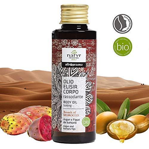 BIO Anti-Aging Körperöl mit Arganöl Und Feigenkaktus ✔ Straffend, Festigend, Restrukturierend ✔ Natyr - Fair Trade Naturkosmetik aus Italien ✔ 100ml -