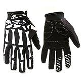 Hakkin Femmes Hommes gants antidérapants Motif de crâne Pour en plein air de vélo de montagne en hiver Gants doigts complets Pour la route vélo de course dérapage gants de ski D'equitation Vélo Moto Motocross gants (Size : M)
