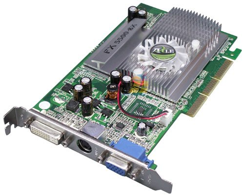 Point of View FX5500 256MB 128Bit AGP Grafikkarte, Retail
