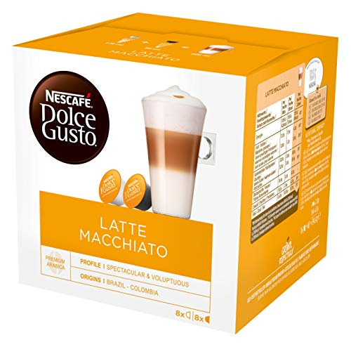 NESCAFÉ Dolce Gusto Latte Macchiato Coffee Pods, 16 Capsules (24 Servings, Pack of 3, Total 48 Capsules)