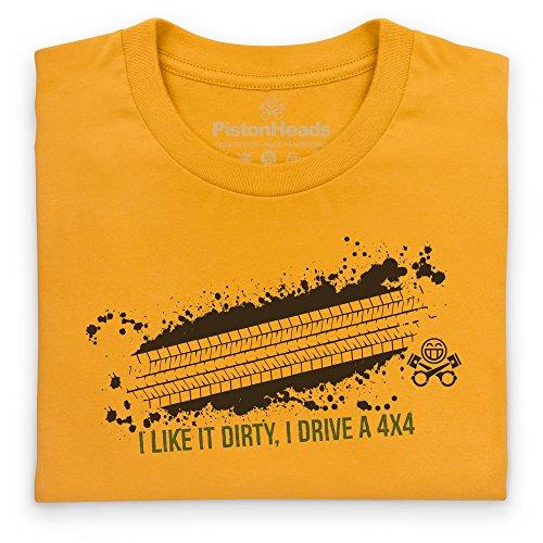 PistonHeads Dirty T-Shirt, Herren Gelb