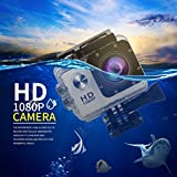 Dailyinshop SJ5000 Action Camera HD Full 1080P 30m Impermeabile 2.0 pollici Schermo Sport Cam, bianco