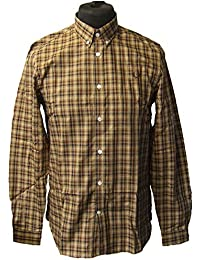 01ac20eab Fred Perry M5523 Twill Checked Shirt Bronze Size M