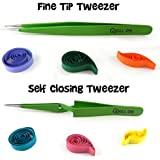 Quill On Quilling Tweezers Tools (Green) - Set Of 2