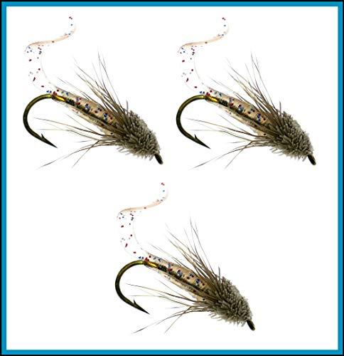 Size 8 strong hook Carp Fishing Flies 4 per pack Dog Biscuit Fishing Flies