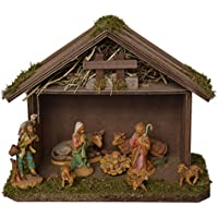 Alfred Kolbe Krippen 1202 Wooden Nativity Scene for 8-10 cm Figures 25 x 18 x 20 cm preiswert