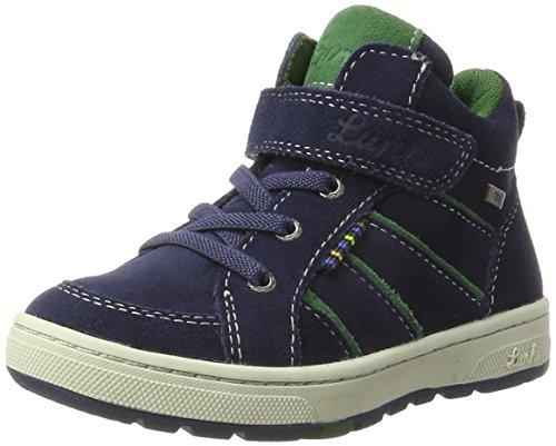 Lurchi Jungen Dusty-Tex Hohe Sneaker, Blau (Jeans), 33 EU (Klettern Jeans Denim)