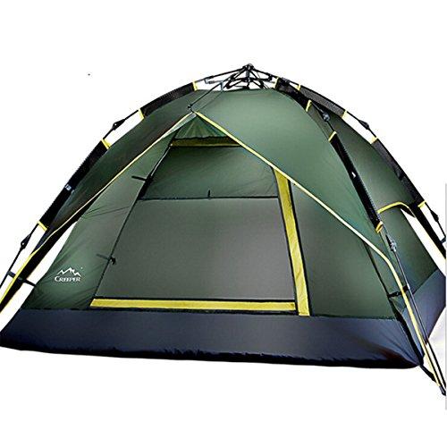Etelux Sekundenzelt Wasserfestem Automatisches Tunnelzelt Familienzelt Campingzelt für 2-3 Personen (Armeegrün)