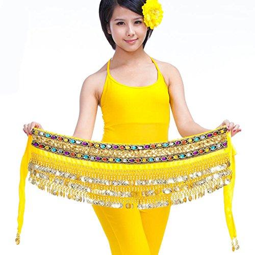 3rangées Belly Dance Hip Écharpe Wrap ceinture Jupe danseuse pour pièces Style 7