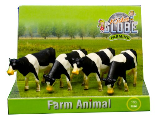 Kids Globe 571967 - Kühe schwarz/weiß 4 Stück